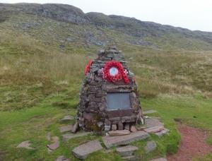 Crashed Wellington memorial stone