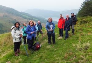 Descending Allt Lwyd towards Talybont Rsv
