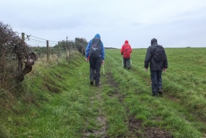 Thoroughly wet but almost back