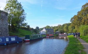 Llangattock Boat Club and towpath