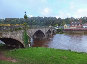 Usk bridge from east bank