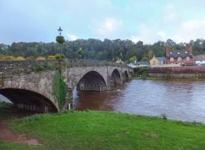 Usk bridge from east bank