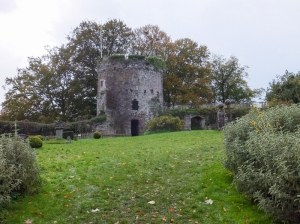 Inside Usk Castle the Garrison Tower