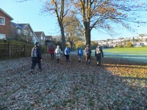Leaving Cowbridge across the playing fields