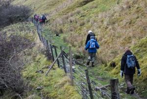 Brinore back towards Trefil quarries