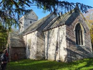 St Michael's Church opposite Plas Llanmihangel