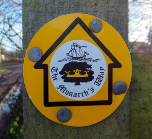 The Monarch's Way footpath sign