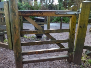 Gate at Leigh Woods