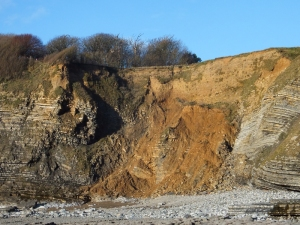 Dunraven Bay cliff fall