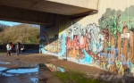 Graffitti on bridge under A4232
