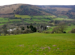Overlooking Llanthony Priory