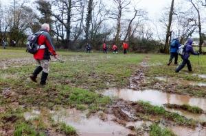Waterogged fields Cefn Mably