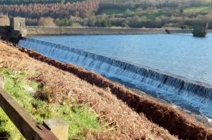 Talybont Reservoir spillway