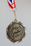 21st birthday medal front