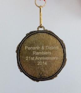 21st birthday medal back