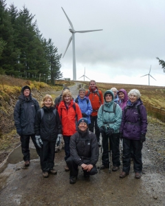 The group below the wind farm
