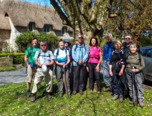 Group on Merthyr Mawr village Green