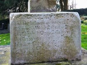 Base of cross at All Saints Llanfrecha