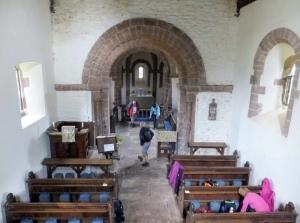 Inside Kilpeck Church
