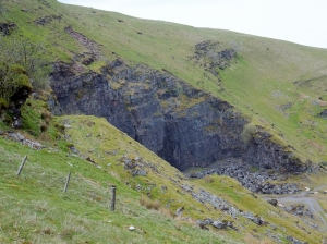 Old stone quarry at Fan Bwlch Chwyth