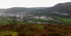 View south from Craig yr Allt
