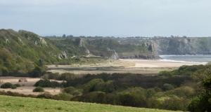 View towards High Tor Nicholaston Burrows