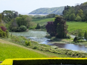 View from Penrice garden terrace