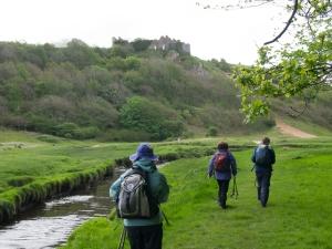 Pennard Castle - Pennard Pill River