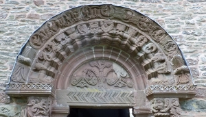 Tympanum showing the Tree of Life