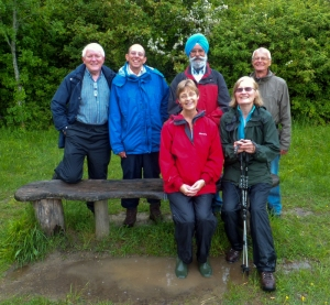 Group near the Ogham posts