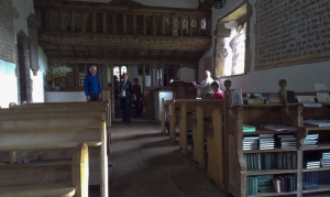 Exploring inside Patrishow church