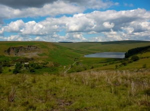 Upper Lliw reservoir from Banc Maestir-mawr