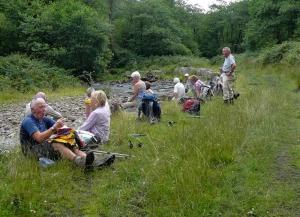 Afternoon break beside River Clydach