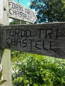 Welsh Three Castles sign