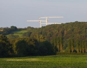 Cranes at Llandough