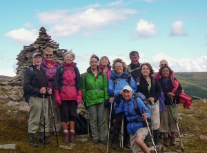 Group pic at the cairn