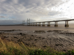 New Severn Bridge and mudflats