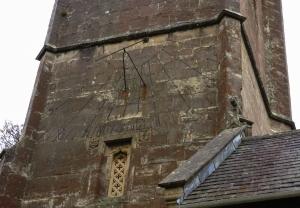 Unusual sun dial Tewdrig's Church