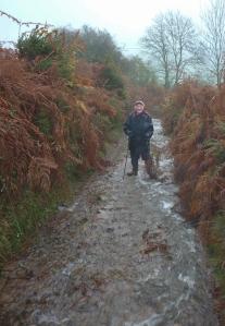 Negotiating the way up Cefn Moel