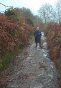 Negotiating the way up Cefn Moel