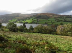 Overlooking Talybont reservoir