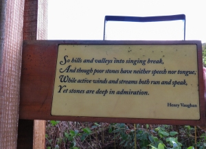 Henry Vaughan poem on swing post