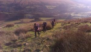 Climbing to Allt Fach
