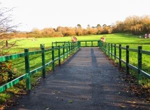 Newly created park at Caerau