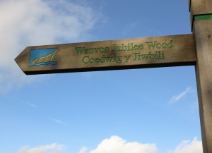 Jubilee Wood sign