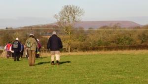 Looking towards Garth Hill