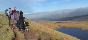 Overlooking Llyn y Fan Fawr