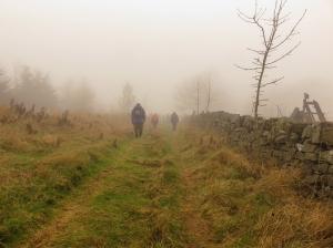 Tramping towards Pwll-du