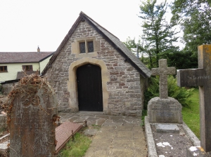 Old Tudor arched bier shed St Andrews Church