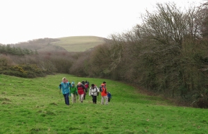 Climbing past Southerndown Farm